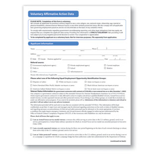 Affirmative Action Form - Complyright