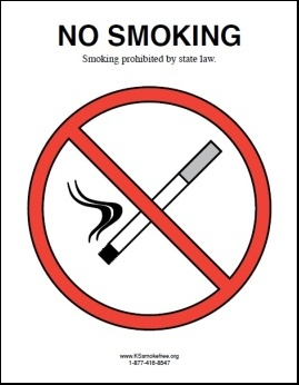 Kansas - No Smoking Sign