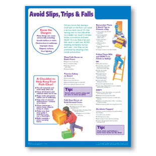Slips, Trips, and Falls Poster