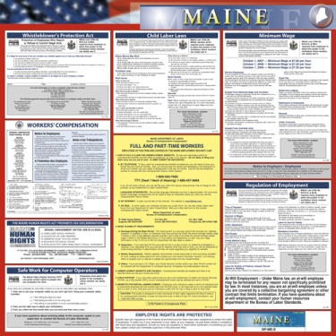 Maine State Poster