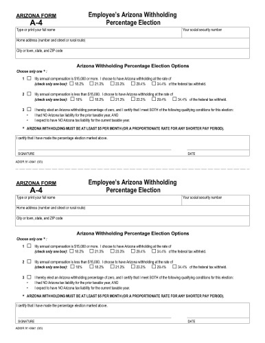 Arkansas State Form W-4